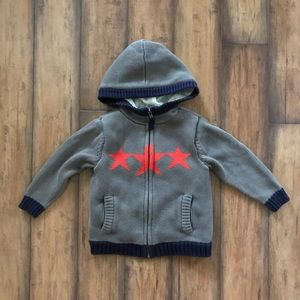 Hanna Andersson Sherpa Lined Hoodie In Gray